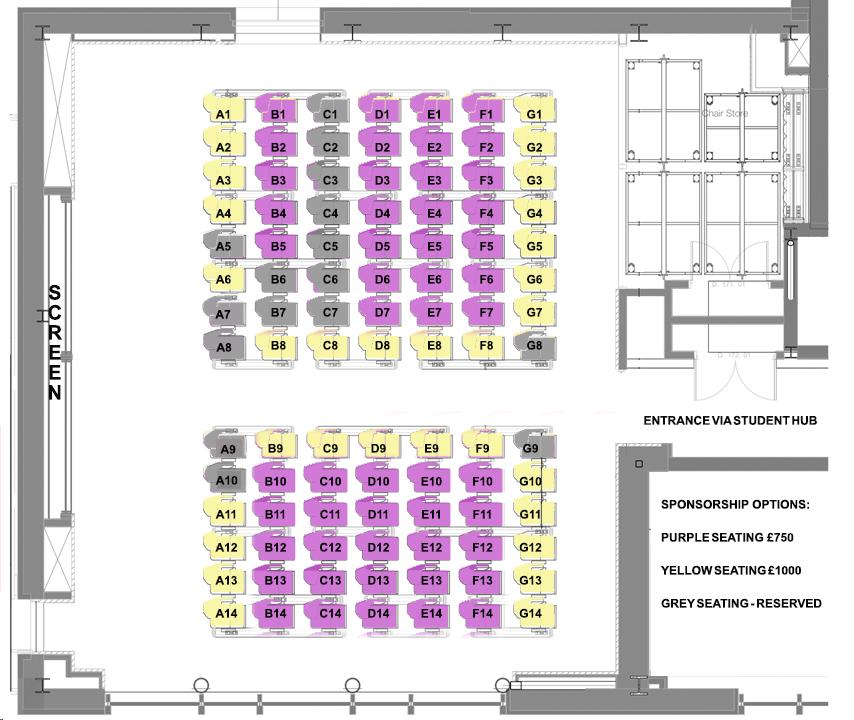 Schreier Lecture Theatre floor plan
